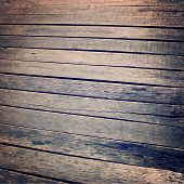 Vintage Stained Wooden Path Background Texture  - Vintage Effect.