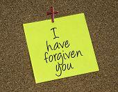 I have forgiven you reminder