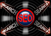 Seo Search Red Arrows - Search Engine Optimization Web