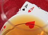 stock photo of poker hand  - The best starting hand in poker  - JPG
