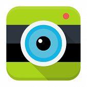 Photo Cam Flat App Icon