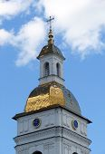 Dome And A Clock Of A Christian Cathedral
