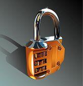 Photo-realistic padlock