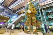 BANGKOK, THAILAND - NOV 07: Suvarnabhumi Airport interior on November 07, 2014. Suvarnabhumi Airport is one of two international airports serving Bangkok
