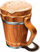 Beer wooden cup