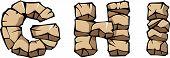 Stone alphabet: GHI