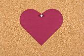 Heart On Corkboard
