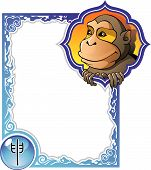 image of chinese zodiac  - Monkey - JPG