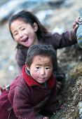 Two Unidentified Tibetan Girls
