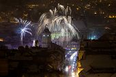 New Year Fireworks In Brasov, Romania