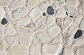 Stone block floor road pavement