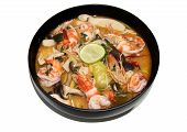 Thai Food Tomyum Shrimp With Lemon