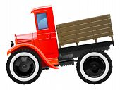 picture of lorries  - Vector illustration of retro lorry - JPG