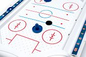Air Hockey Game Board And Pieces