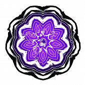 Lace black ethnic ornament drawn coal