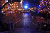 Preseren square, decorated for Christmas and New Year's holidays, Ljubljana, Slovenia