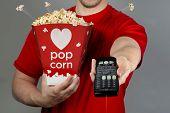 Pop Corn And Remote Control.
