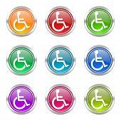 wheelchair icons set