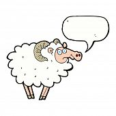 cartoon ram with speech bubble