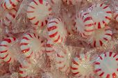 image of peppermint  - A close up of individually wrapped peppermint candies  - JPG