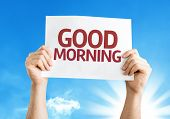 Good Morning card with a beautiful day