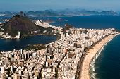 picture of olympic mountains  - Rio de Janeiro Aerial View Overlooking Ipanema Beach - JPG