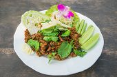 Spicy Minced Pork Salad, Minced Pork Mash With Spicy, Thai Food
