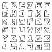 Square Uppercase Font