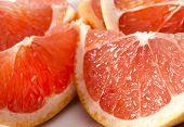 köstliche Grapefruit Teile
