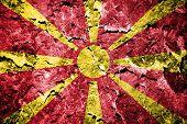 Grunge of Macedonia flag