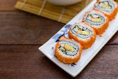 California Roll Sushi Maki - Japanese Food - Selective Focus Point