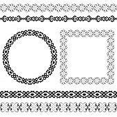 Ethnic set of the most popular round and square frames and dividers