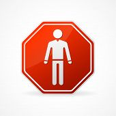 Vector Sign no man on white background