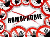 No Homophobia Concept Illustration