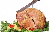 honey baked ham sliced