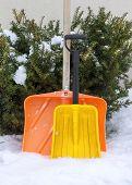Two snow shovels