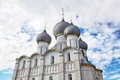 Rostov Kremlin Assumption Cathedral domes