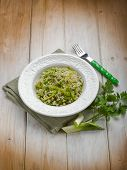 picture of leek  - risotto with leek - JPG