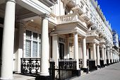 foto of kensington  - Expensive old fashioned typical Regency Georgian terraced town houses architecture in fashionable Kensington - JPG