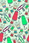 foto of thread-making  - Bright pattern with sewing including thread - JPG