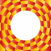 foto of placeholder  - Color abstract radial background with placeholder in the center - JPG