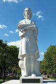 stock photo of christopher columbus  - Boston Christopher Colombus public statue found in the park - JPG