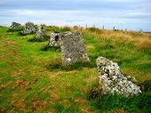 pic of megaliths  - Achavanich is a megalithic horseshoe - JPG