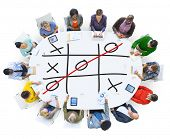 picture of toe  - Tic Tac Toe Game Competition XO Win Challenge Concept - JPG