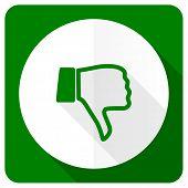 stock photo of dislike  - dislike flat icon thumb down sign  - JPG