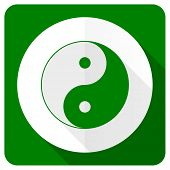 picture of ying-yang  - ying yang flat icon   - JPG