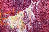 stock photo of hooligans  - Authentic textured background old wall hooligans stained with paint - JPG