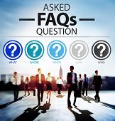 foto of faq  - Frequently Asked Questions FAQ Problems Concept - JPG