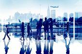 image of terminator  - Business People Travel Corporate Airport Passenger Terminal Concept - JPG