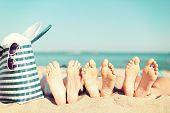 stock photo of pedicure  - summer vacation - JPG
